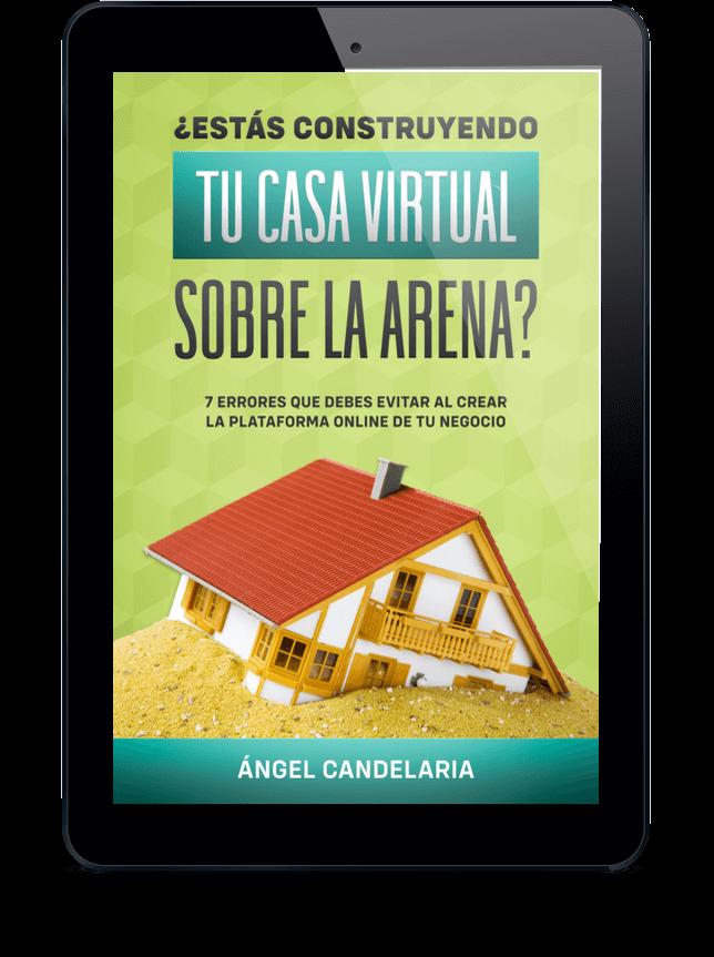 casa virtual sobre la arena
